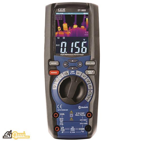 مولتی متر و ترمومتر مادون قرمز DT-9889
